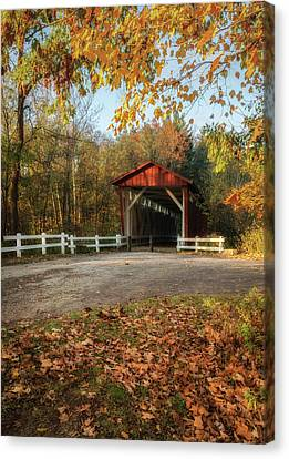 Canvas Print featuring the photograph Vintage Covered Bridge by Dale Kincaid