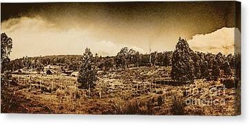 Vintage Cradle Mountain Panorama Canvas Print by Jorgo Photography - Wall Art Gallery