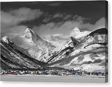 Spots Canvas Print - Vintage Crested Butte by Dusty Demerson