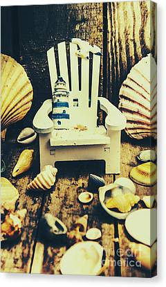 Seashell Art Canvas Print - Vintage Cruise Deck Details by Jorgo Photography - Wall Art Gallery