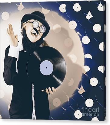 Vintage Dj Bringing Back The Retro Beat Canvas Print by Jorgo Photography - Wall Art Gallery