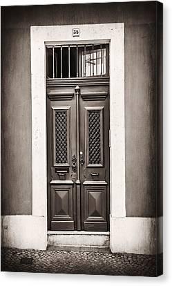 Decorating Canvas Print - Vintage Door In Lisbon by Carol Japp