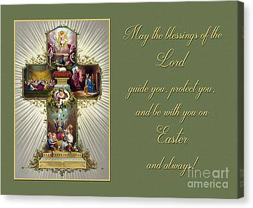 Canvas Print featuring the photograph Vintage Easter Blessings by JH Designs