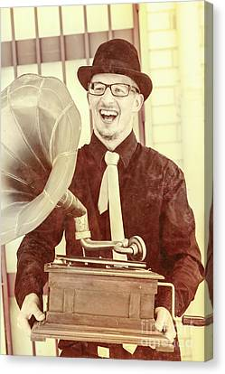 Oldies Canvas Print - Vintage Entertainment Man Playing Golden Oldies by Jorgo Photography - Wall Art Gallery