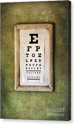 Vintage Eye Chart Canvas Print by Jill Battaglia