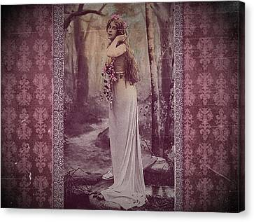 Vintage Femme Fatale Canvas Print by Mary Morawska