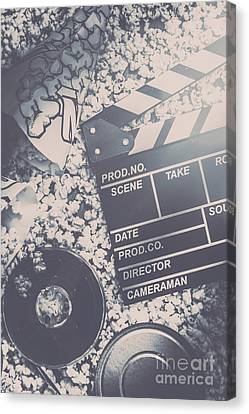 Vintage Film Production Canvas Print