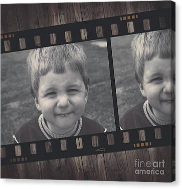 Vintage Filmstrip Boy Smiling For The Camera Canvas Print by Jorgo Photography - Wall Art Gallery