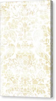 Vintage Floral Pattern White Wash Canvas Print by Frank Tschakert