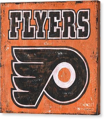 Vintage Flyers Sign Canvas Print by Debbie DeWitt