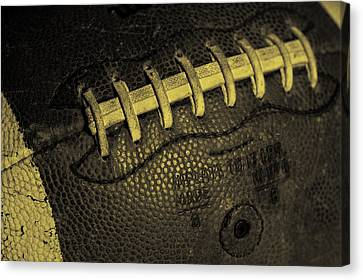 Vintage Football 4 Canvas Print by David Patterson