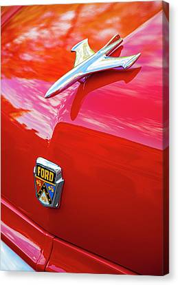 Canvas Print featuring the photograph Vintage Ford Hood Ornament Havana Cuba by Charles Harden