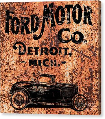 Vintage Ford Motor Company Canvas Print by Edward Fielding