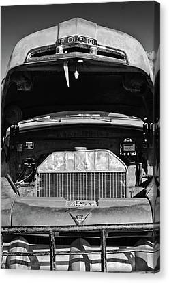 Vintage Ford Pickup Truck -0024bw Canvas Print by Jill Reger
