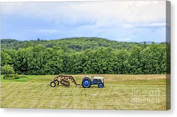 Vintage Ford Tractor Tilt Shift Canvas Print by Edward Fielding