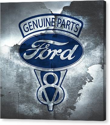 Vintage Ford V8  Canvas Print by Mark Rogan