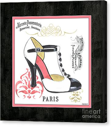Vintage French Shoes 1 Canvas Print by Debbie DeWitt