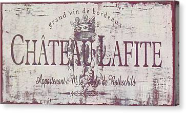 Vintage French Wine Sign Canvas Print by Mindy Sommers