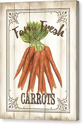 Vintage Fresh Vegetables 3 Canvas Print