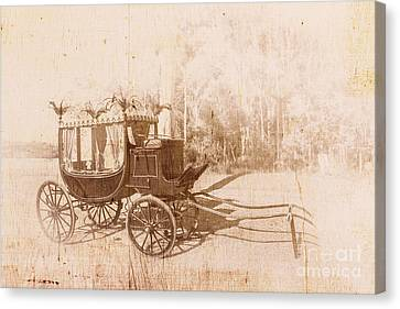 Creepy Canvas Print - Vintage Funeral Hearse by Jorgo Photography - Wall Art Gallery