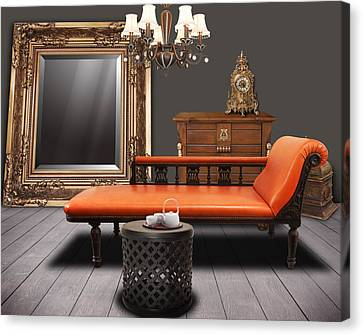 Vintage Furnitures Canvas Print by Atiketta Sangasaeng
