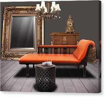 Vintage Furnitures Canvas Print by Atiketta Sangasaeng
