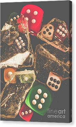 Vintage Gambling Scene Canvas Print by Jorgo Photography - Wall Art Gallery