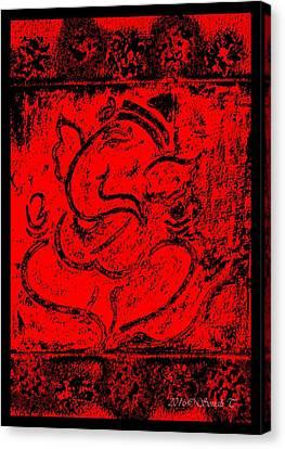 Vintage Ganesha Canvas Print