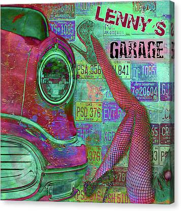 Vintage Garage Print Canvas Print by Greg Sharpe