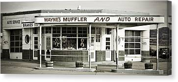 Vintage Gas Station Canvas Print by Marilyn Hunt