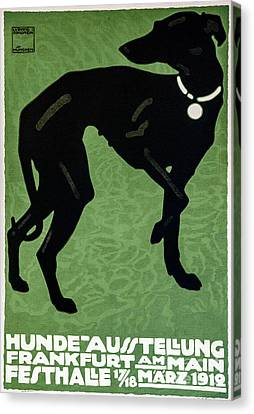 Vintage German Dog Expo Canvas Print by Mindy Sommers