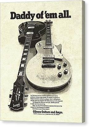 Vintage Gibson Les Paul Ad Canvas Print by Gary Bodnar