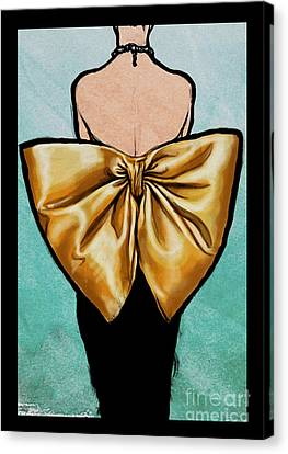 Vintage Glamour Fashion Dress Canvas Print by Mindy Sommers