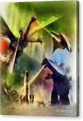 Vintage Godzilla Canvas Print