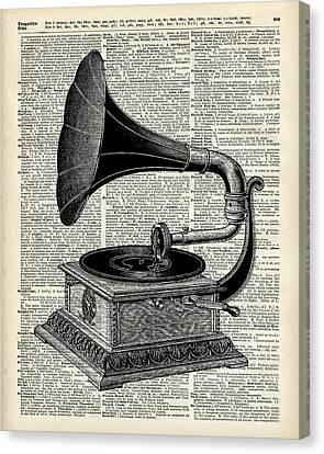 Vintage Gramophone Canvas Print by Jacob Kuch