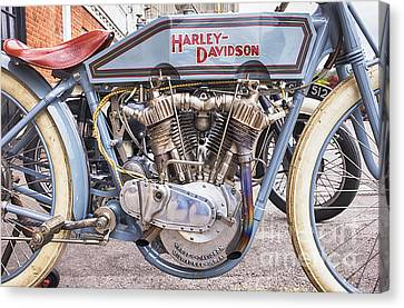 Vintage Harley Davidson Racer Canvas Print by Tim Gainey