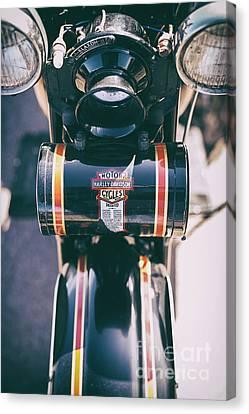 Vintage Harley Davidson Tool Box Canvas Print
