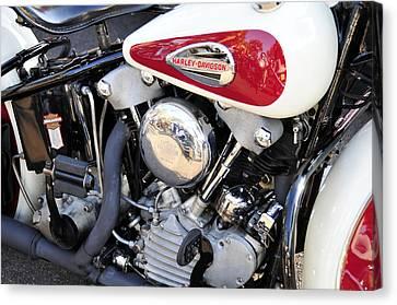 Vintage Harley V Twin Canvas Print by David Lee Thompson
