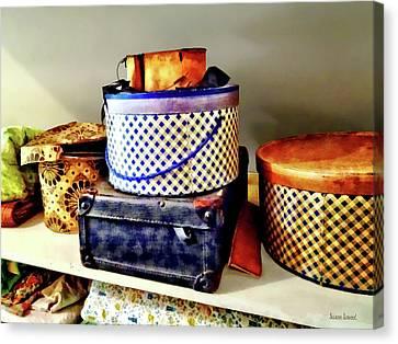 Hat Canvas Print - Vintage Hat Boxes by Susan Savad