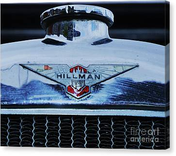 Collectible Vintage Hillman Logo Canvas Print by Poet's Eye