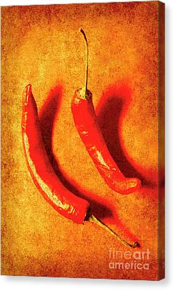 Vintage Hot Curry Peppers Canvas Print