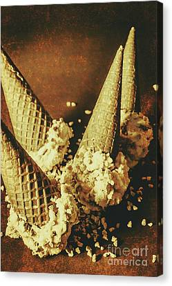 Vintage Ice Cream Cones Still Life Canvas Print by Jorgo Photography - Wall Art Gallery