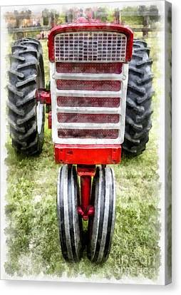 Vintage International Harvester Tractor Canvas Print by Edward Fielding