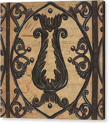 Vintage Iron Scroll Gate 2 Canvas Print by Debbie DeWitt