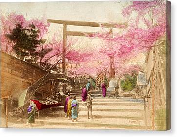 Vintage Japanese Art 25 Canvas Print by Hawaiian Legacy Archive - Printscapes