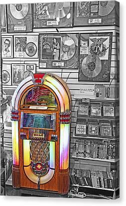 Vintage Jukebox - Nostalgia Canvas Print by Steve Ohlsen