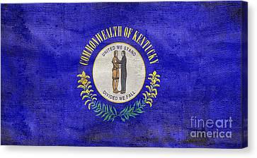 Vintage Kentucky Flag Canvas Print by Jon Neidert