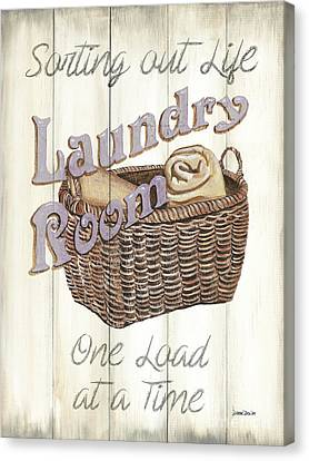 Vintage Laundry Room 2 Canvas Print by Debbie DeWitt