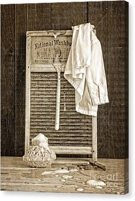Vintage Laundry Room Canvas Print by Edward Fielding