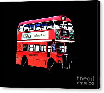 Vintage London Bus Tee Canvas Print by Edward Fielding